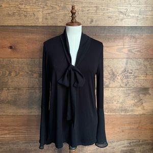 Joan Vass Black Bell Sleeve Tunic